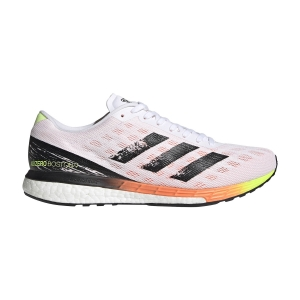 Adidas Adizero Boston 9 - Ftwr White/Core Black/Screaming Orange