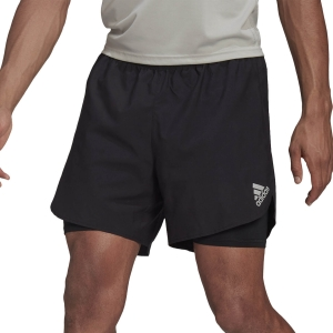 adidas Fast 2 in 1 Primeblue 6in Shorts - Black