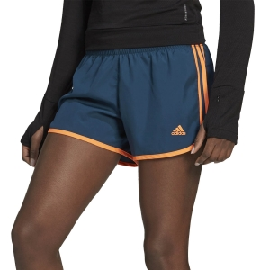 adidas Marathon 20 3in Shorts - Wild Teal/Screaming Orange