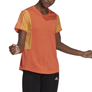 adidas Own The Run Cooler T-Shirt - Hazy Orange/True Orange