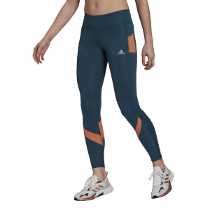 Adidas Own The Run Tights - Wild Teal/Hazy Copper