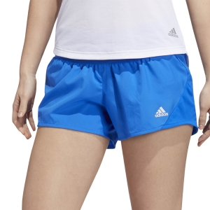 Pantaloncini Running Donna adidas Run It 3Stripes 4in Pantaloncini  Glory Blue FQ2463