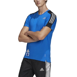Camisetas Running Hombre adidas Space Race Camiseta  Football Blue GP5804