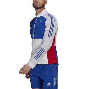 adidas Track Jacket - White/Team Royal Blue/Scarlet
