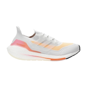 adidas Ultraboost 21 - Crystal White/Acid Orange