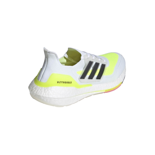 adidas Ultraboost 21 - Ftwr White/Core Black/Solar Yellow