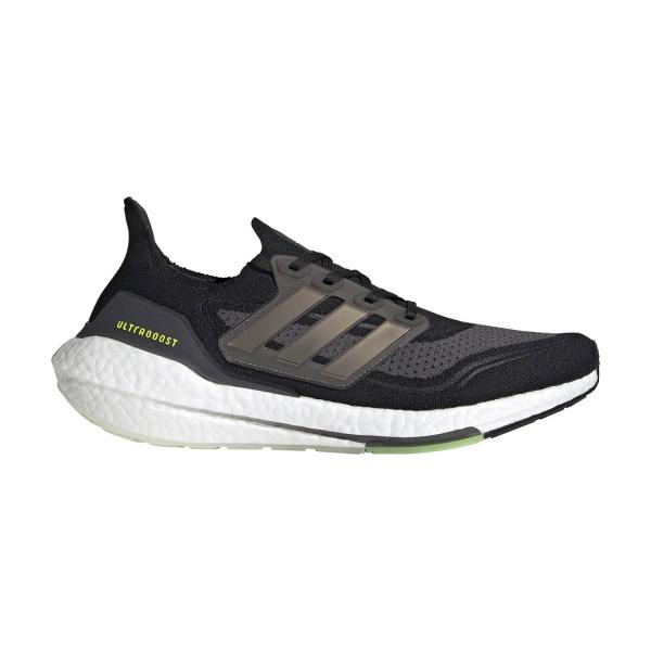 adidas Ultraboost 21 - Core Black/Silver Metallic/Solar Yellow