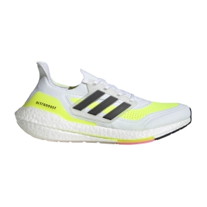 Men's Neutral Running Shoes adidas Ultraboost 21  Ftwr White/Core Black/Solar Yellow FY0377
