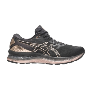 Zapatillas Running Neutras Mujer Asics Gel Nimbus 23 Platinum  Black/Rose Gold 1012B013001