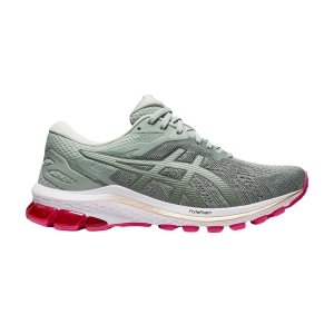 Woman's Structured Running Shoes Asics GT 1000 10  Lichen Rock/Champagne 1012A878301