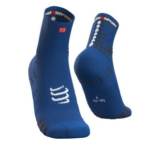Compressport Pro Racing V3.0 Run High Calze - Blu Lolite