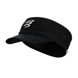 Hats & Visors Compressport Spiderweb Visor  Black CU00006B990