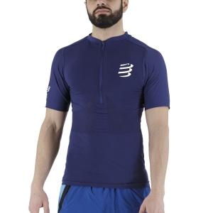 Compressport Trail Half Zip T-Shirt - Blue