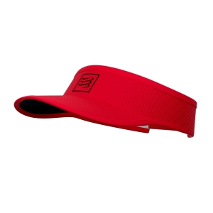 Hats & Visors Compressport Logo Visor  Red/Black CU00054B301