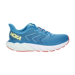 Woman's Structured Running Shoes Hoka One One Arahi 5  Mosaic Blue/Luminary Green 1115012MBLGR