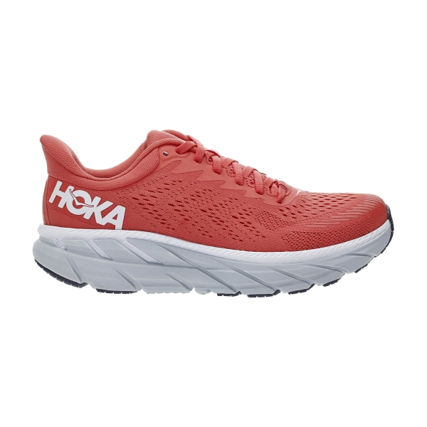 Hoka One One Clifton 7 - Hot Coral/White