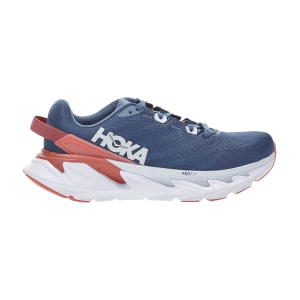 Women's Performance Running Shoes Hoka One One Elevon 2  Moroccan Blue/Hot Coral 1106478MBHCR
