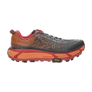 Women's Trail Running Shoes Hoka One One Evo Mafate 2  Black/Poppy Red 1105592BPRD