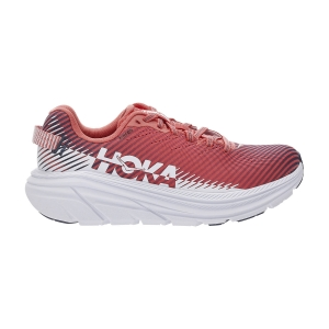 Women's Neutral Running Shoes Hoka One One Rincon 2  Hot Coral/White 1110515HCWH