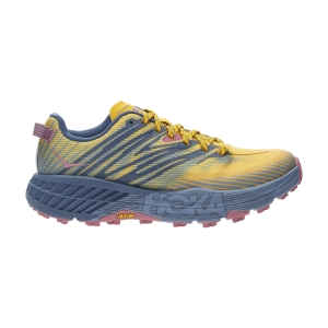 Women's Trail Running Shoes Hoka One One Speedgoat 4  Saffron/Provincial Blue 1106527SPNB