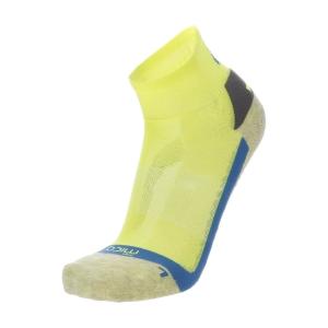 Mico Multisport X-Static Argento Calcetines - Giallo Fluo