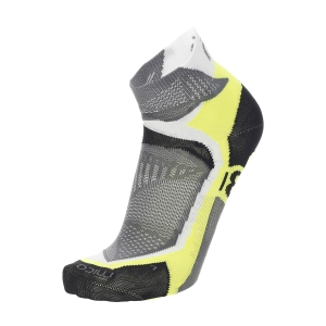 Mico Professional Extralight Calcetines - Bianco/Giallo Fluo