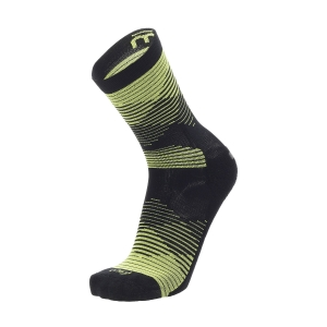 Mico Professional Light Weight Socks - Nero/Giallo Fluo