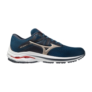 Zapatillas Running Estables Hombre Mizuno Wave Inspire 17  India Ink/Platinum Gold/Ignition Red J1GC214442