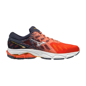 Men's Neutral Running Shoes Mizuno Wave Ultima 12  Mandarine Red/Silver/Ombre Blue J1GC211805