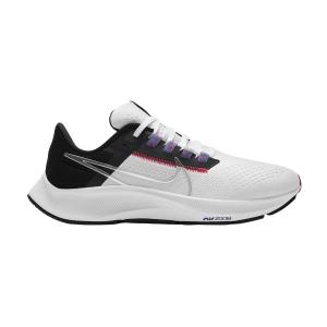 Nike Air Zoom Pegasus 38 - White/Metallic Silver/Black
