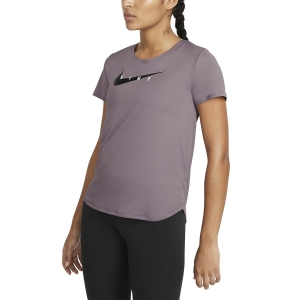 Women's Running T-Shirts Nike Classic Swoosh Run TShirt  Purple Smoke/Reflective Silver CZ9278531