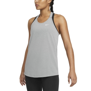 Canotta Fitness e Training Donna Nike DriFIT Elastika Canotta  Smoke Grey Heather/White DA0370084