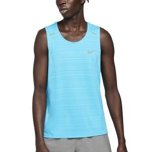 Nike Dri-FIT Miler Run Tank - Chlorine Blue/Reflective Silver