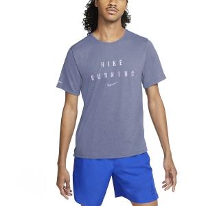 Nike Dri-FIT Miler Run Division Maglia - Indigo Haze/Reflective Silver