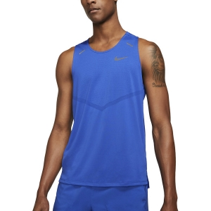 Men's Running Sleeveless Nike DriFIT Rise 365 Tank  Game Royal/Reflective Silver CZ9179480