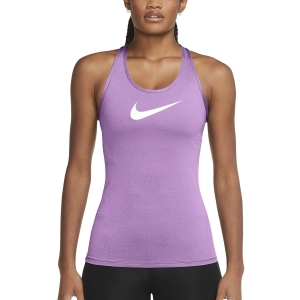 Top Fitness y Training Mujer Nike DriFIT Swoosh Top  Violet Shock/White DC7208591