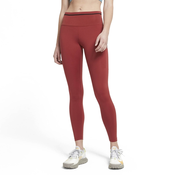 Nike Epic Luxe Tights - Dark Cayenne/Cerulean/Reflective Silver