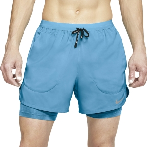 Men's Running Short Nike Flex Stride 2 in 1 5in Shorts  Chlorine Blue/Reflective Silver CJ5467447