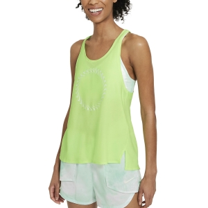Canotta Running Donna Nike Icon Clash Miler Canotta  Lime Glow/Barely Green CZ9604345