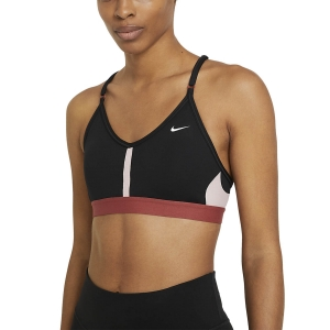 Women's Sports Bra Nike Indy Sports Bra  Black/Pink Glaze/Canyon Rust/White CZ4456011