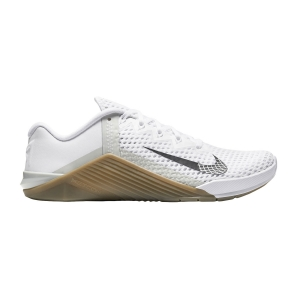 Nike Metcon 6 - White/Black Gum/Dark Brown/Grey Fog
