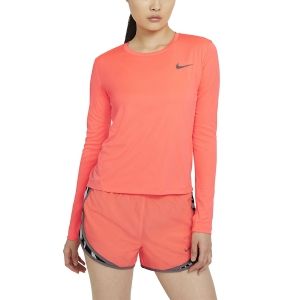 Nike Miler Shirt - Bright Mango/Reflective Silver