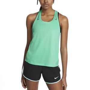 Nike Miler Racer Top - Green Glow/Reflective Silver
