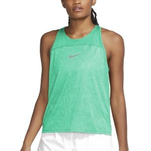 Nike Miler Run Division Canotta - Green Glow/Reflective Silver