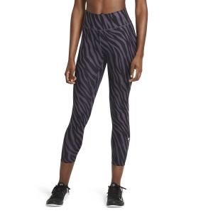 Women's Fitness & Training Pants and Tights Nike One 7/8 Printed Tights  Dark Raisin/White DC5276573