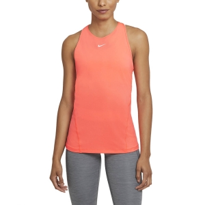 Canotta Fitness e Training Donna Nike Pro Canotta  Bright Mango/White AO9966854