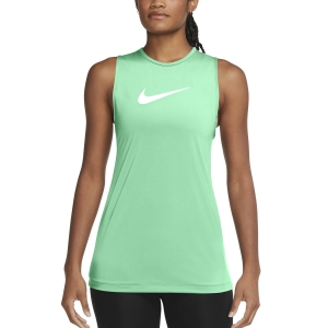 Canotta Fitness e Training Donna Nike Pro Essential Open Canotta  Green Glow/White DA2238342