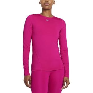 Nike Pro Mesh Camisa - Fireberry/White