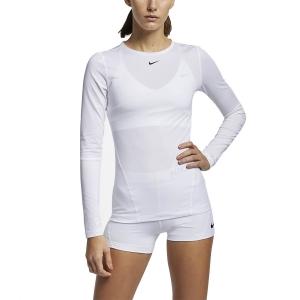 Nike Pro Mesh Shirt - White/Black