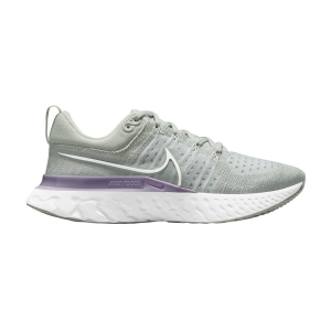 Zapatillas Running Neutras Mujer Nike React Infinity Run Flyknit 2  Light Silver/White/Infinite Lilac CT2423005